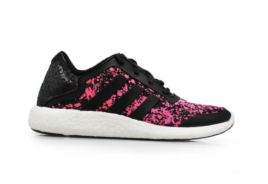 Para Mujer Adidas Pure Boost W P4-m21406-Negro Suave Rosa formadores
