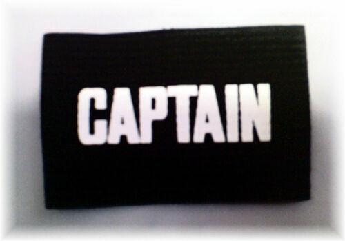 WHOLESALE 10 X Junior CAPTAIN Armband Childs Football Sports Black White Job Lot