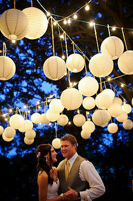 "10pcs Round Paper Lantern Wedding Venue Party Home Decor 6""-16"" Many Colors New"