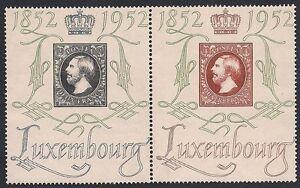 LUSSEMBURGO-1952-CENTENARIO-FRANCOBOLLI-n-453-54-INTEGRI-120