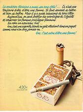 PUBLICITE ADVERTISING  1975    EVE   cigarettes