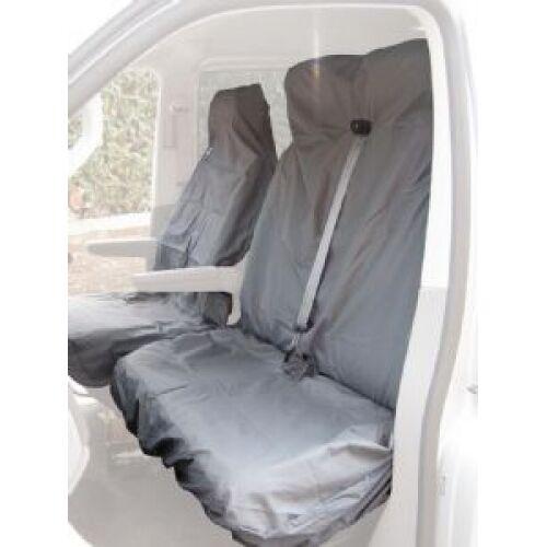 WATERPROOF GREY VAN SEAT COVERS SINGLE /& DOUBLE 2+1 09-ON HYUNDAI I LOAD