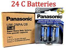 24 Wholesale C Panasonic Battery Batteries Super heavy duty Bulk Lot