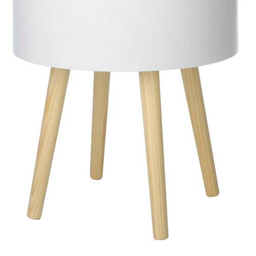 Small Round Side Table With Storage Room Tea Coffee Lamp Stand Modern Furniture