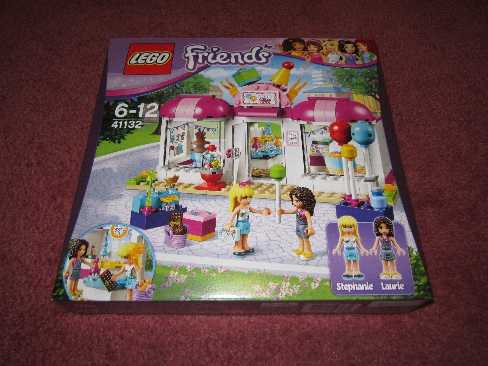 LEGO FRIENDS HEARTLAKE HEARTLAKE HEARTLAKE PARTY SHOP 41132 - NEW BOXED SEALED 707981
