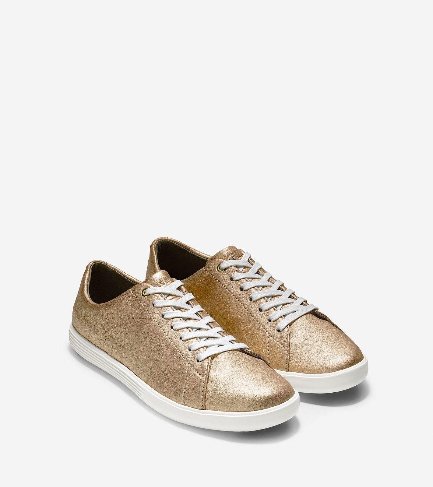 NEW Cole Haan Grand Crosscourt II Sneaker (Gold/WEISS) - WOMEN'S Schuhe SIZE 8