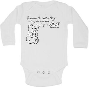 Winnie the Pooh Beautiful Quotation Personalized Long Sleeve Baby Vests Unisex