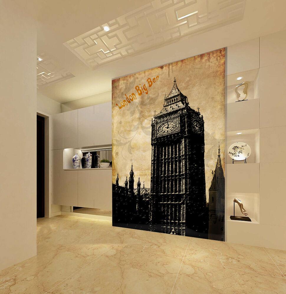 Mega 3D Ancient London Big Ben871 Wall Paper Wall Print Decal Wall AJ Wall Paper
