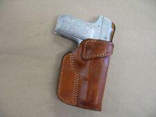 Colt 1903 380 .380acp Leather Clip On OWB Belt Concealment Holster CCW - TAN RH