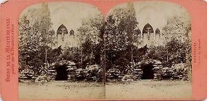 Marsiglia Francia Foto Stereo Neurdein Vintage Albumina Ca 1875