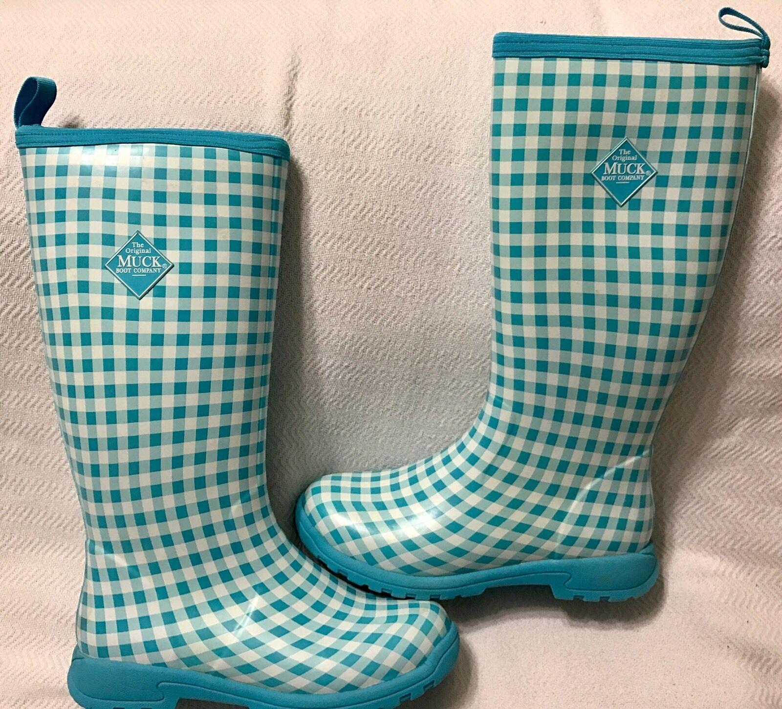 Muck botas para Mujer Breezy alto moña aislado para Lluvia botas moña alto azul Talla 10 48fbae