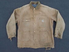 Vintage Carhartt Distressed Chore Work Jacket Size 44 Union Made in USA WIP