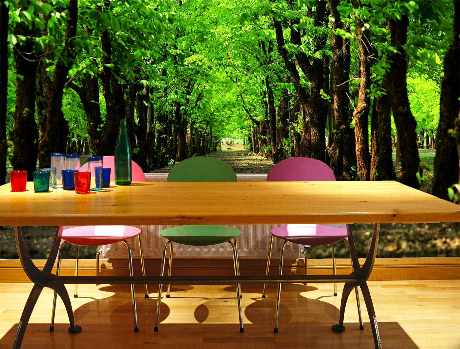 3D Tree Rows Scenery 2244 Paper Wall Print Wall Decal Wall Deco Indoor Murals