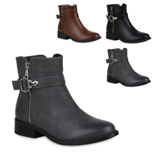 894548 Klassische Damen Stiefeletten Schuhe Zipper Mode