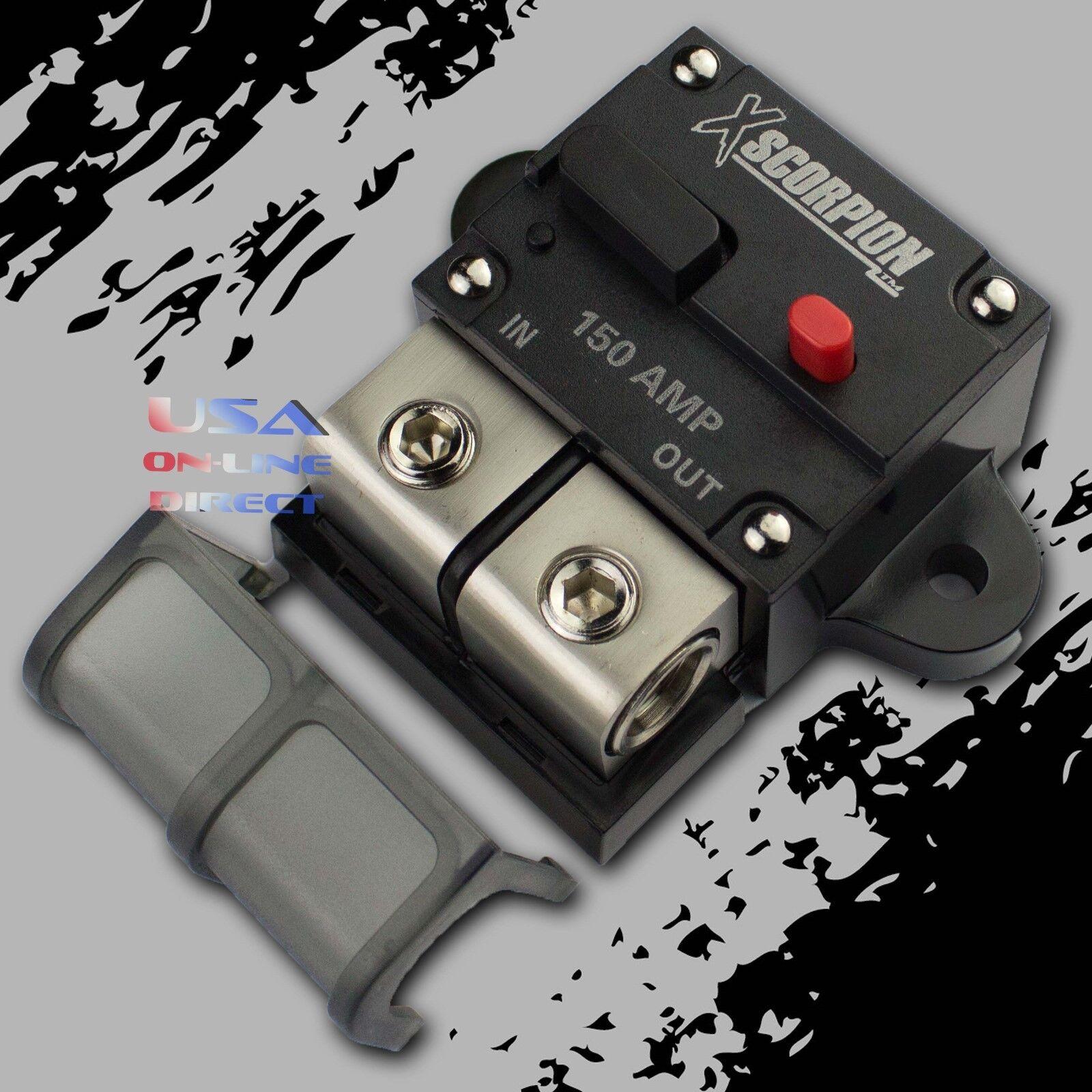 US Waterproof 30 50 60 100 Amp Circuit Breaker Trolling Manual Reset 12V 48V DC