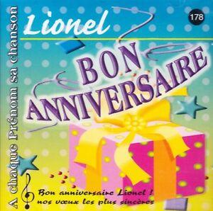 Joyeux Anniversaire Lionel.Details Sur Joyeux Bon Anniversaire Lionel A Chaque Prenom Sa Chanson Lionel