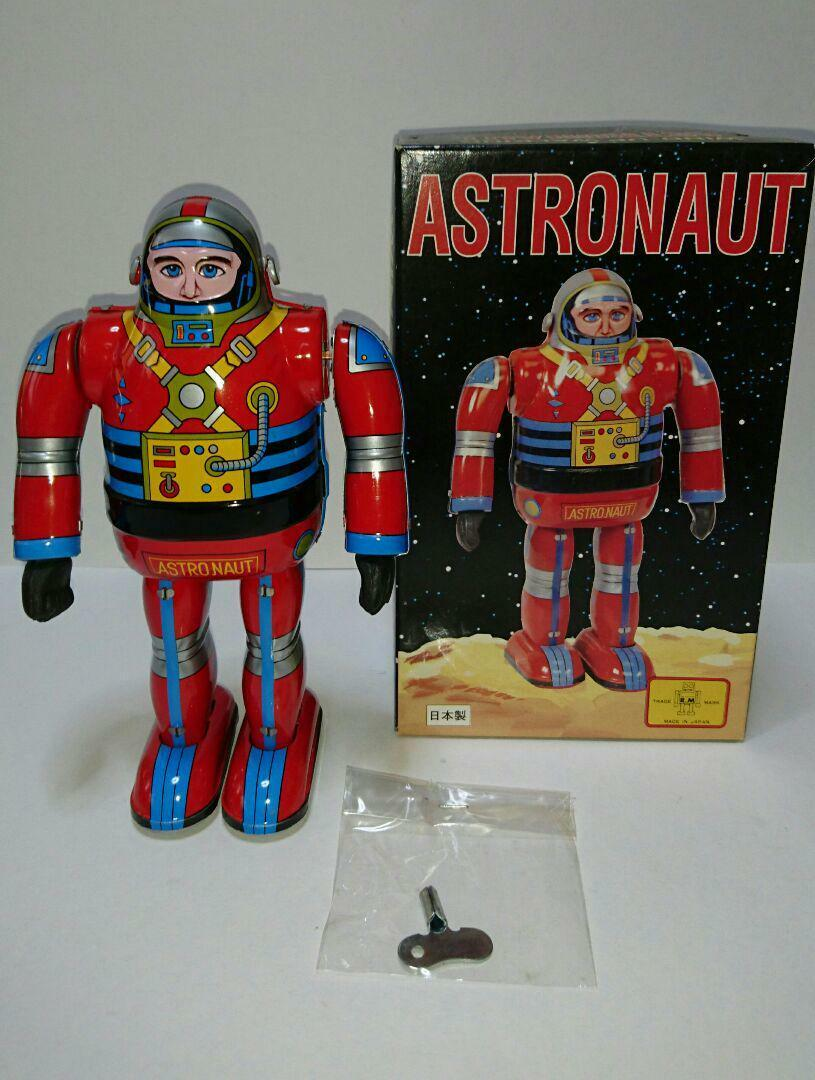 Tinplate astronauts metal house made in Japan Vintage item