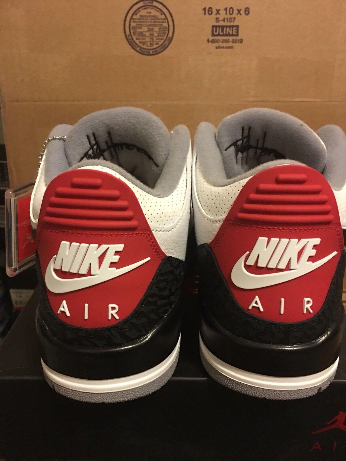 Nike Air Jordan 3 Retro Tinker NRG 719864-010 AQ3835-160 Size 9