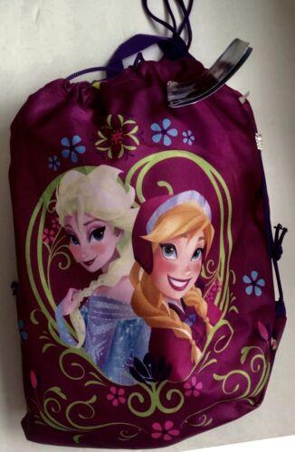 Disney Frozen Elsa Purple Fleece Throw Blanket and pull Bag  2-Pc Set 40x50in