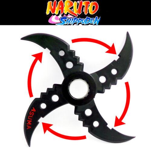 Anime NARUTO Ninja Sarutobi Asuma Plastic Shuriken Rotatable Cosplay Prop Gifts