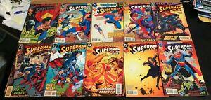 Action-Comics-SUPERMAN-big-VF-LOT-61-DC-039-94-03-Set-Run-collection-Luthor-Joker