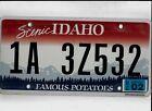 """IDAHO passenger 2013 license plate """"1A 3Z532"""" ***ADA***NATURAL***"""