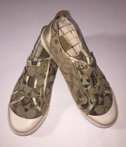 doppia con Sneakers A1301 fibbia Coach dorata pelle in Britt Oc4YWWqZ