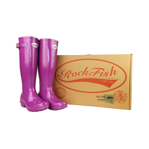 Rockfish Women/'s Tall Standard Gloss Wellington PR-19842