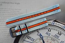 18mm Porsche Lemans Gulf Racing Colors 2-Piece Strap Diver Watch Band 316 PVD