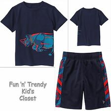 NWT Gymboree GYMGO Active Wear Boys Size Medium 7-8 Tee Shirt & Shorts 2-PC SET