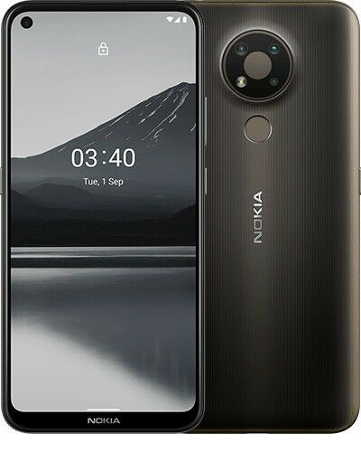 Nokia 3.4 (ta-1283 DS) anthrazit grau Android Handy Entsperrt Neu Versiegelt