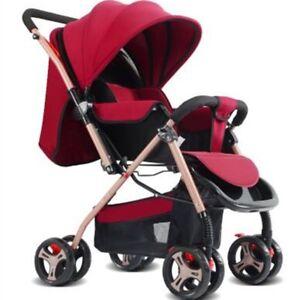 Foldable-Baby-Pushchair-Two-Way-Push-Safety-Portable-Pram-Stroller-Parasol-Buggy