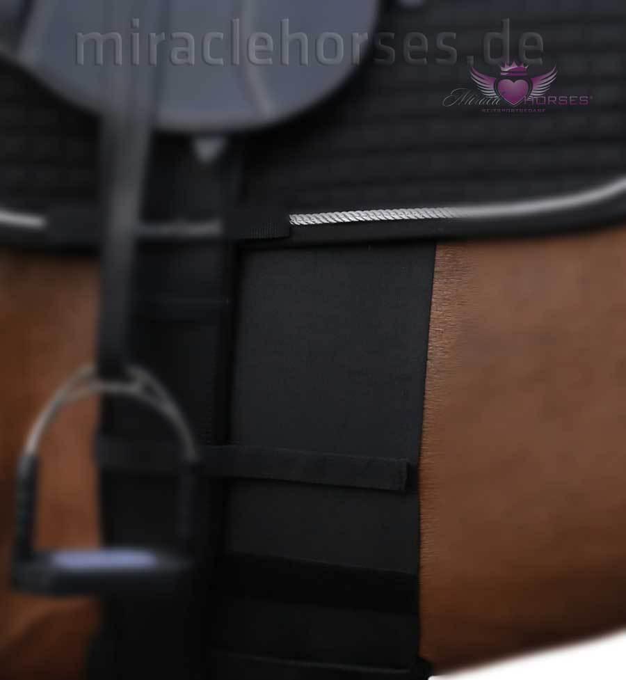 Horse Guard Sporenschutzgurt elastisch Cob Gr. Cob elastisch & Full schwarz NEU 50f600
