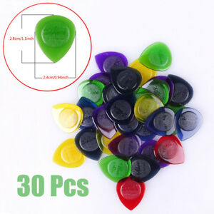 30Pcs-Alice-Guitar-Bass-Clear-Picks-Plectrums-Multicolor-1-0-2-0-3-0mm-Thickness