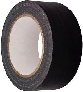 Negro-Grado-Automotriz-Cinta-Adhesiva-Celo-Tela-48mm-X-50m-Impermeable