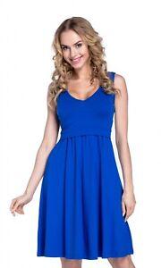 d03d16897d6d7 Happy Mama Women's Maternity Nursing Layered Skater Dress Sleeveless. 685p  Royal