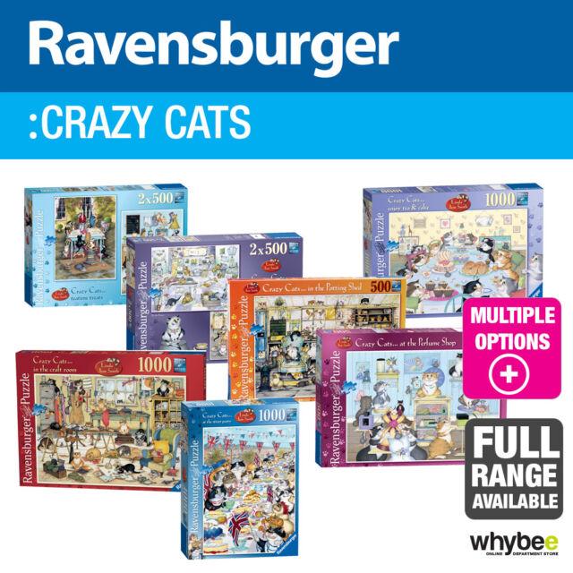 Ravensburger crazy cats adulte jigsaw puzzles - 6 designs à choisir!
