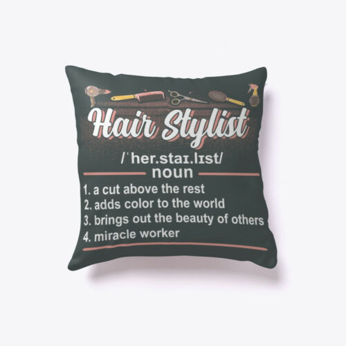 Funny Hair Stylist Definition Gift Pillow