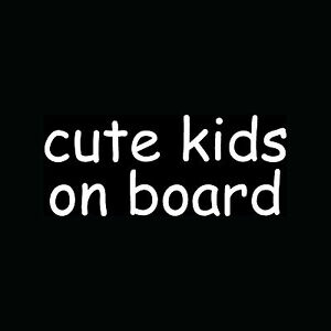 CUTE-KIDS-ON-BOARD-Children-Sticker-Car-Truck-Window-Vinyl-Decal-Careful-Parents