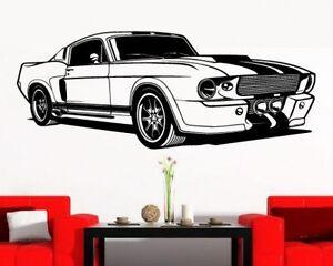 Das Bild Wird Geladen Wandaufkleber Sportwagen Auto Cooles Wohnzimmer  Wandtattoo Jugendzimmer
