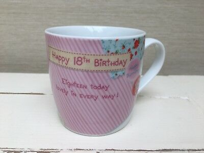 """me To You"" Bear ""happy 18th Birthday"" White Mug By Carte Blanche Fijn Vakmanschap"