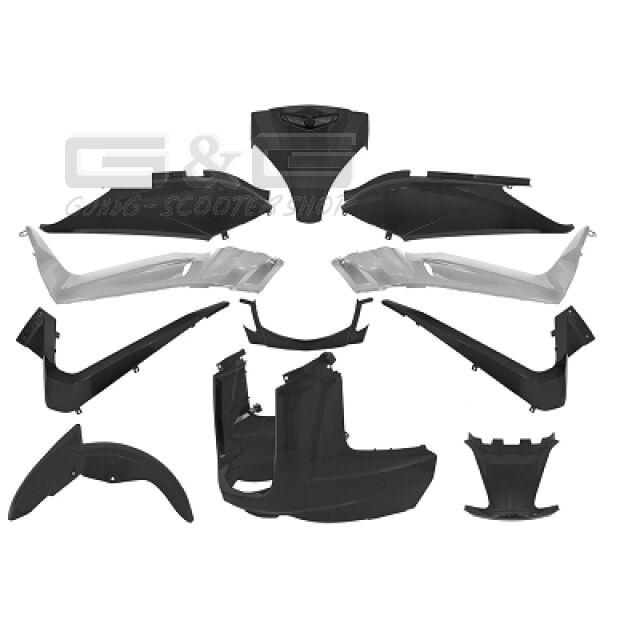 Kit de Disfraces Cubierta en Negro Mate para Yamaha X-Max MBK Skycruiser