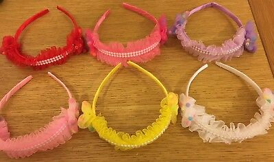 Attento Girls Pearl Headband Head Wear Pack Of 6 Design Moderno