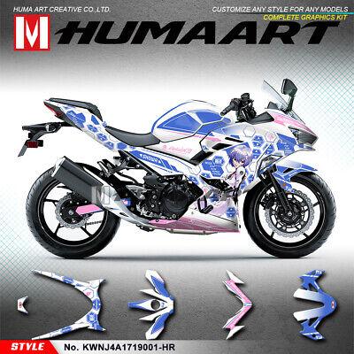 Color : 1 Set for Kawasaki Ninja 400 NINJA400 2018 Ninja 400 ninja400 2018 3D Aufkleber Aufkleber Logo Tankpad Schutz 2019