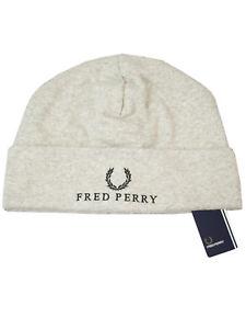 Fred-Perry-Jersey-Beanie-C4105-420-Steel-Marl-Muetze-Wintermuetze-Grau-7434