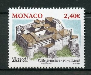 Monaco-2018-MNH-Ancient-Grimaldi-Strongholds-Bardi-1v-Set-Architecture-Stamps