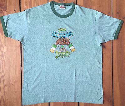 Affidabile Hanes 1980s Tag Vintage T-shirt You Betcha Asa I 'm Irish Rare Size Xl Originale-mostra Il Titolo Originale