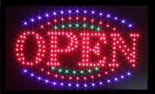 OPEN LED Panneau Luminaire Affichage Enseigne au néon publicité ...
