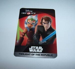 DISNEY-INFINITY-3-0-Star-Wars-Anakin-Ahsoka-Web-Code-Card-Twilight-of-Republic
