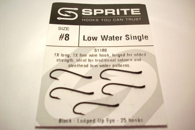 Partridge Low Water Salmon Single N2 Fly Tying Hooks Qty 10 size 2
